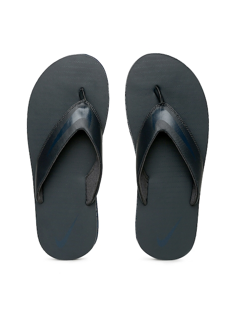 Nike Men Navy Solid CHROMA Thong Flip-Flops