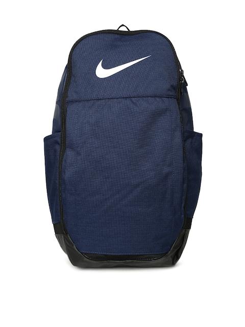 Nike Unisex Navy Blue Brand Logo NK BRSLA XL Backpack