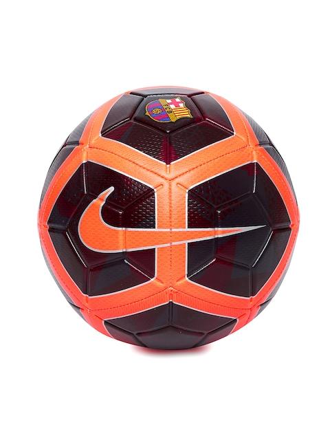 Nike Unisex Maroon & Neon Orange FC Barcelona NK STRK Printed Football