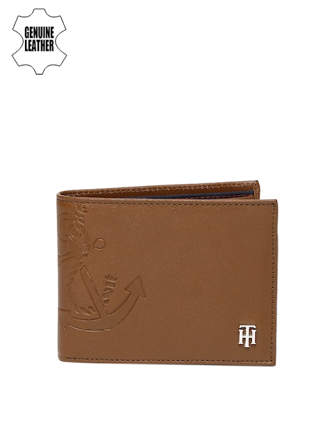 Tommy Hilfiger Men Tan Two Fold Leather Wallet