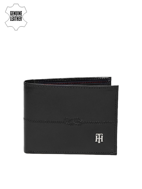 Tommy Hilfiger Men Blue Two Fold Leather Wallet