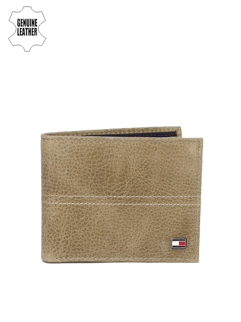 Tommy Hilfiger Men Brown Genuine Leather Two Fold Wallet