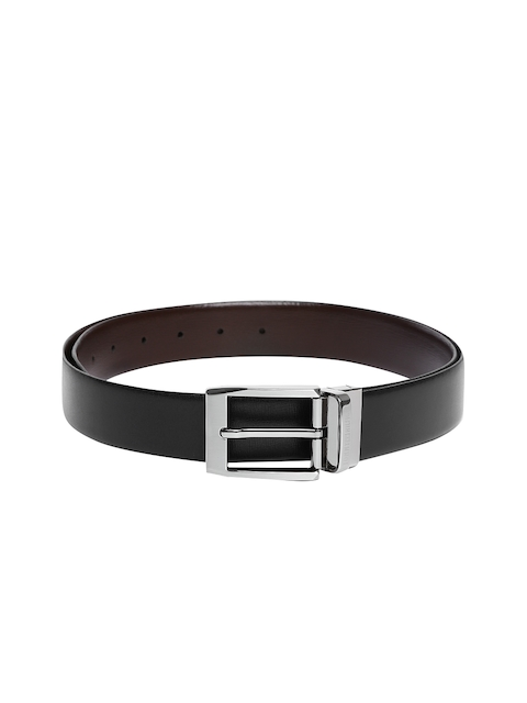 Tommy Hilfiger Men Black & Brown Solid Reversible Belt