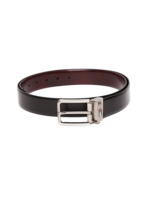 Tommy Hilfiger Men Black & Brown Solid Reversible Belt