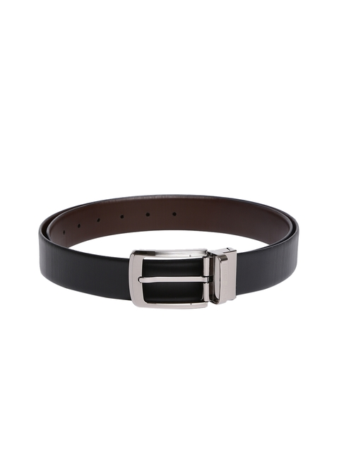 Tommy Hilfiger Men Black & Brown Reversible Solid Belt