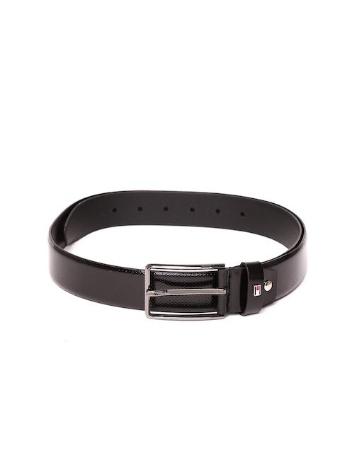 Tommy Hilfiger Men Black Textured Belt