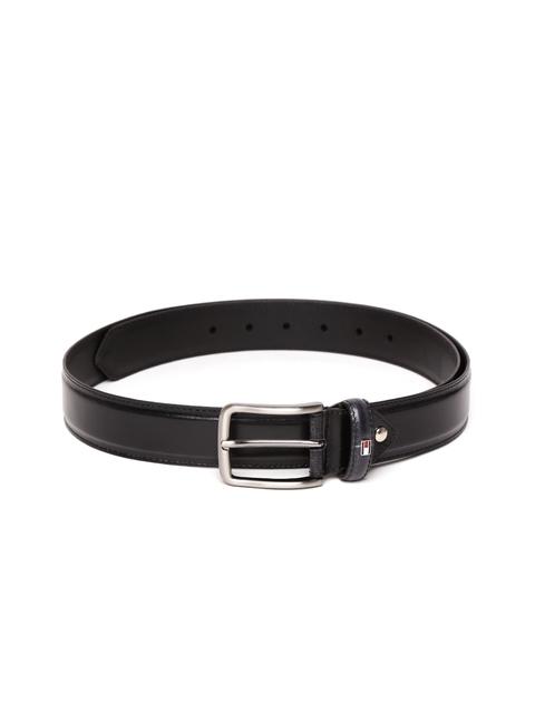 Tommy Hilfiger Men Black Solid Belt