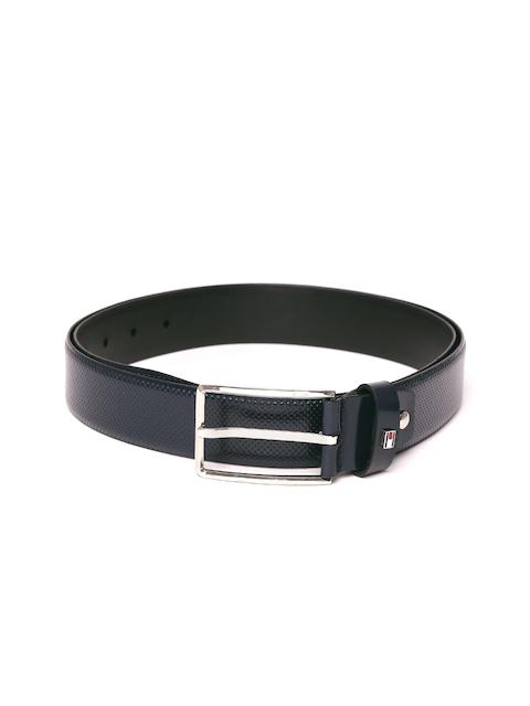 Tommy Hilfiger Men Navy Blue Textured Belt