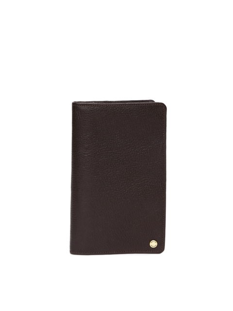 Hidesign Men Dark Brown Solid Leather Two Fold Wallet