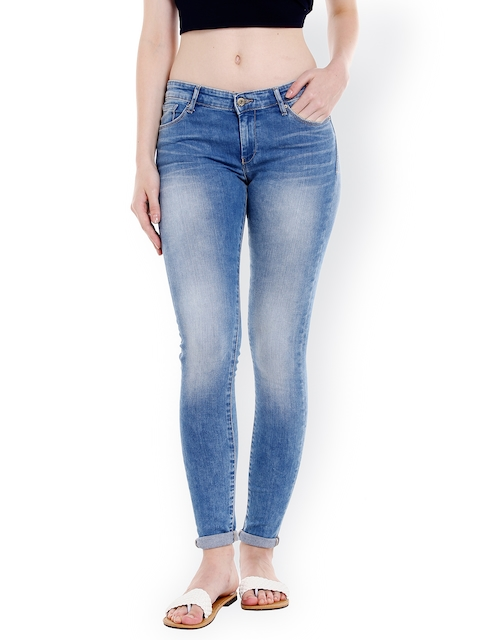 SPYKAR Women Blue Slim Fit Low-Rise Clean Look Jeans