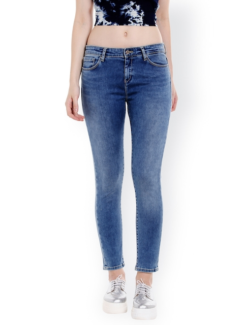 SPYKAR Women Blue Skinny Fit Mid-Rise Clean Look Jeans