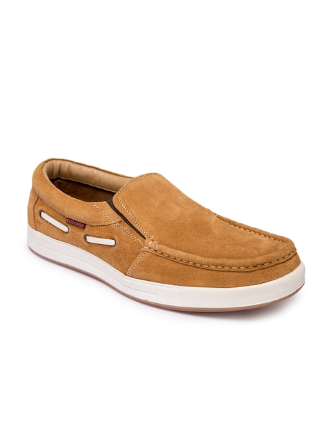 Red Chief Men Tan Brown Boat Shoes