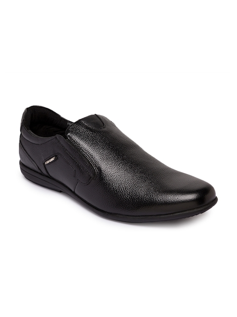 Red Chief Men Black Slip-On Smart Casual Shoes