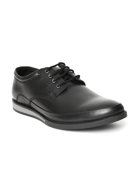 Red Chief Men Black Real Leather Semiformal Derbys