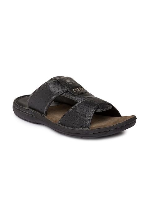 Red Chief Men Black Comfort Sandals