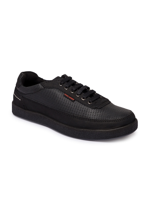 Red Chief Men Black Perforated Sneakers  available at myntra for Rs.2095