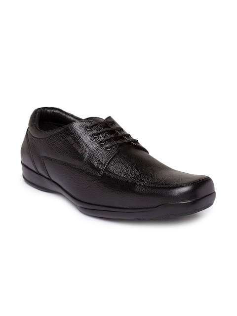 Red Chief Men Black Leather Derbys