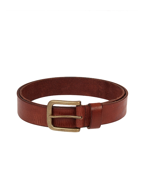 Aditi Wasan Men Brown Solid Genuine Leather Belt