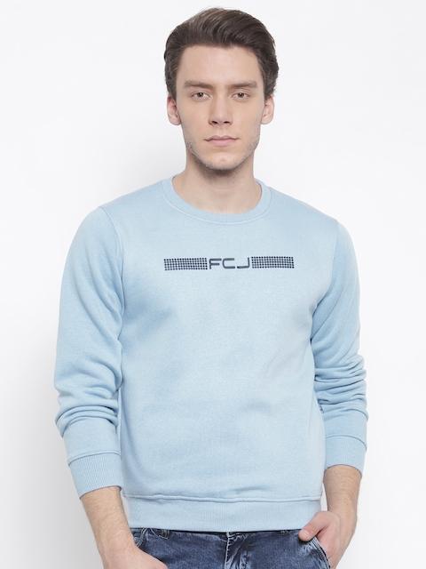 Fort Collins Men Blue Solid Sweatshirt