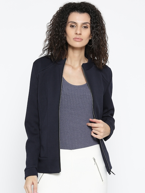 Fort Collins Women Navy Solid Tailored Jacket