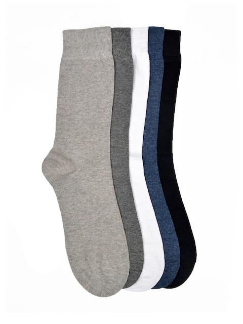 VINENZIA Men Set Of 5 Multicoloured Calf-Length Socks