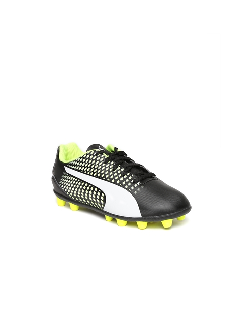 Puma Kids Black & Fluorescent Green Adreno III AG Printed Football Shoes  available at myntra for Rs.1574