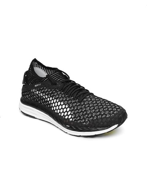 Puma Women Black Mesh Mid-Top Running Shoes