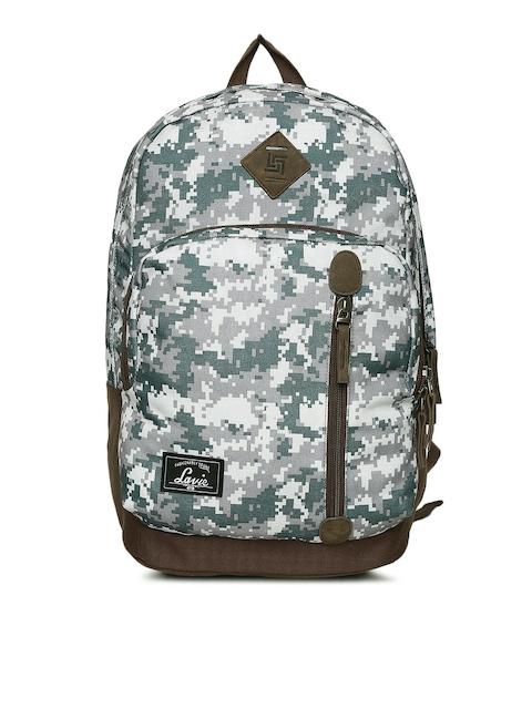 Lavie Women Brown & Green Printed Backpack