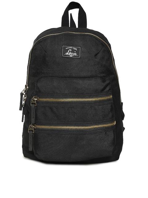 Lavie Women Black Solid Backpack