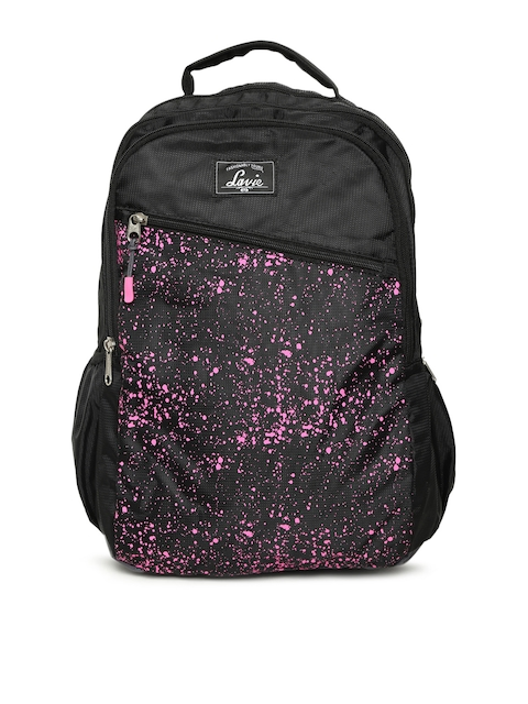 Lavie Women Black Graphic Backpack