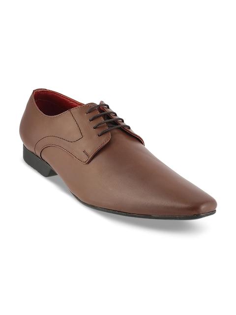 Mochi Men Tan Brown Leather Derbys