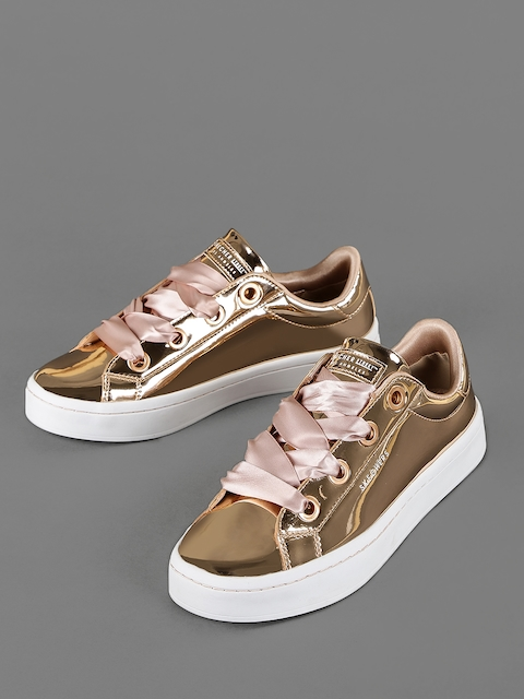 Skechers Women Rose Gold-Toned HI-LITE Sneakers