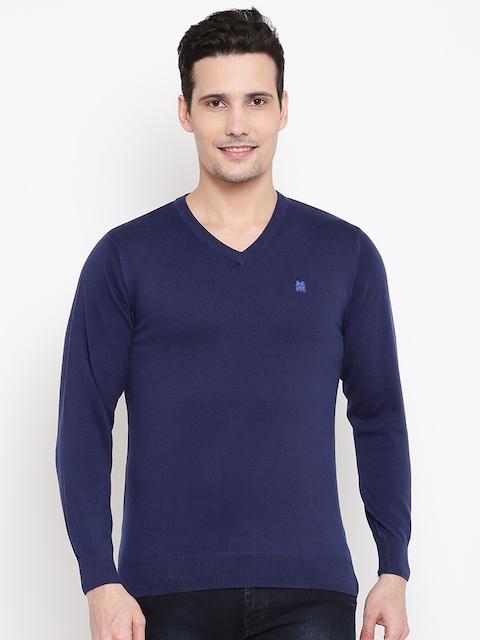 Monte Carlo Men Navy Solid Sweater