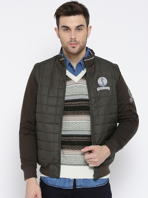 Monte Carlo Men Coffee Brown Bomber Jacket with Detachable Sleeves