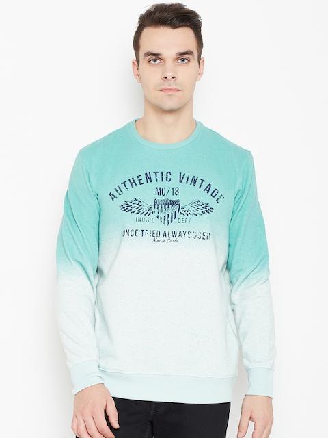 Monte Carlo Men Green Dyed Printed Sweatshirt