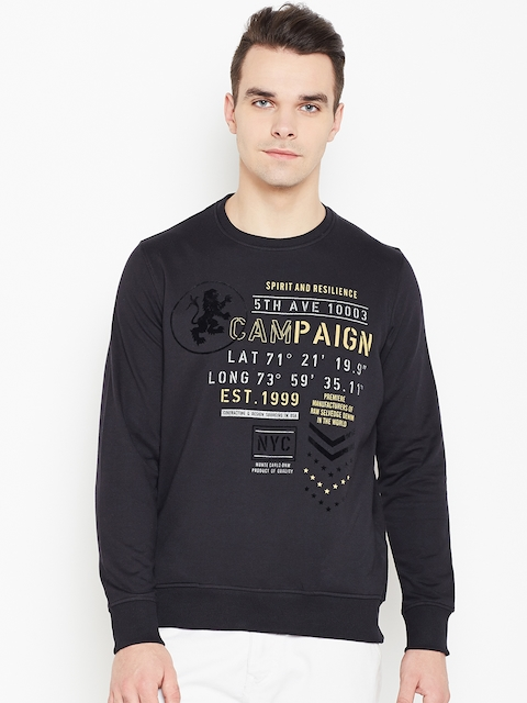 Monte Carlo Men Black Printed Sweatshirt