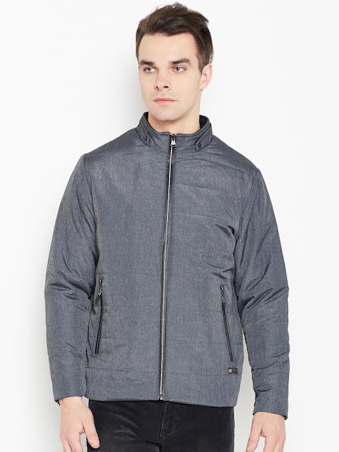 Monte Carlo Men Grey Solid Padded Jacket