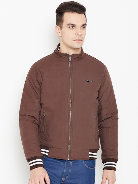 Monte Carlo Men Coffee Brown Solid Bomber Jacket