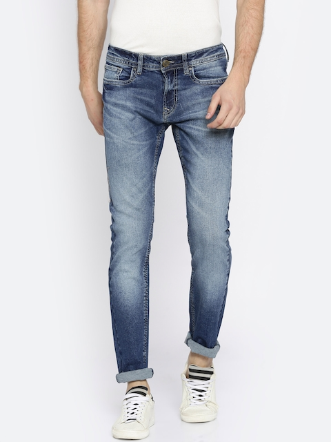 Peter England Casuals Men Blue Skinny Fit Low-Rise Clean Look Stretchable Jeans