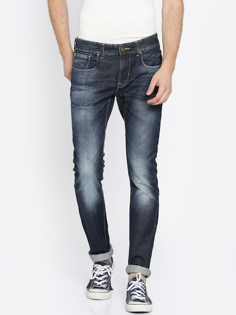Peter England Casuals Men Blue Skinny Fit Low-Rise Clean Look Jeans