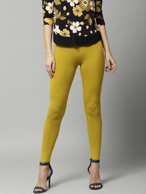 Marks & Spencer Mustard Yellow Ankle-Length Leggings