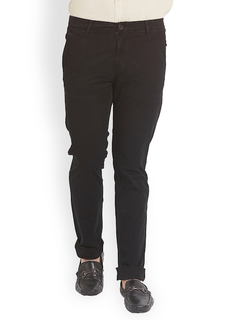 SPYKAR Men Brown Relaxed Slim Fit Solid Regular Trousers