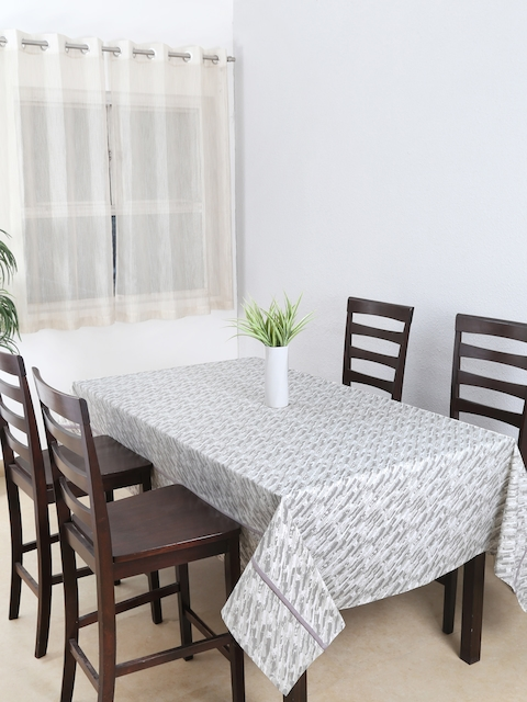 House This Grey Square Printed 60 x 60 Cotton Table Cover