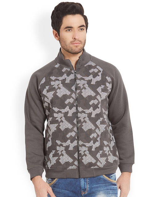 SPYKAR Men Grey Printed Sweatshirt