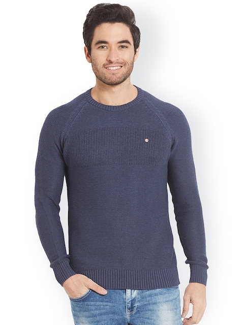 SPYKAR Men Blue Solid Sweatshirt