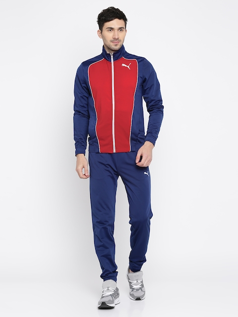 Puma Men Red & Navy MMIX Tricot Tracksuit