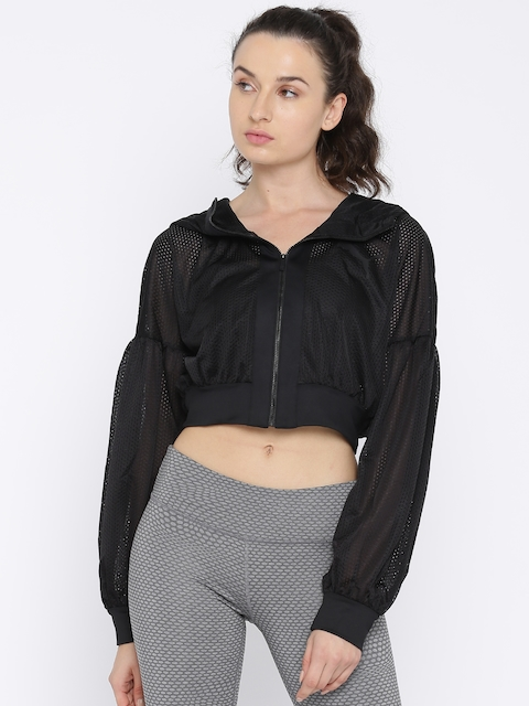Puma Women Black Solid Sporty Jacket