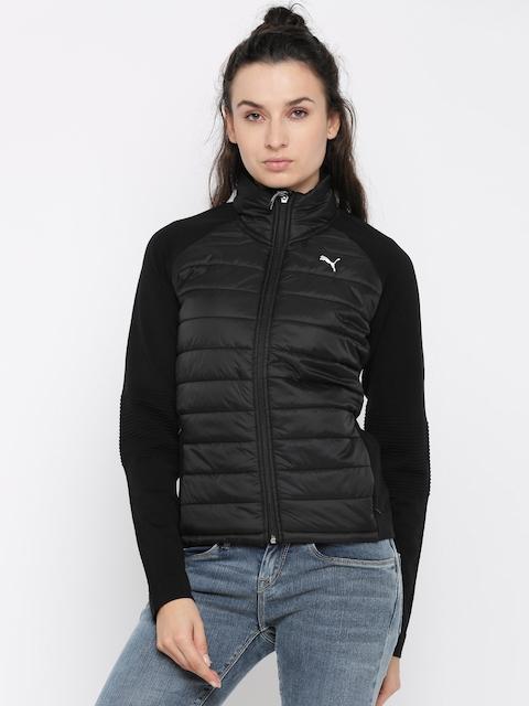 Puma Women Black Solid Evoknit Padded Jacket
