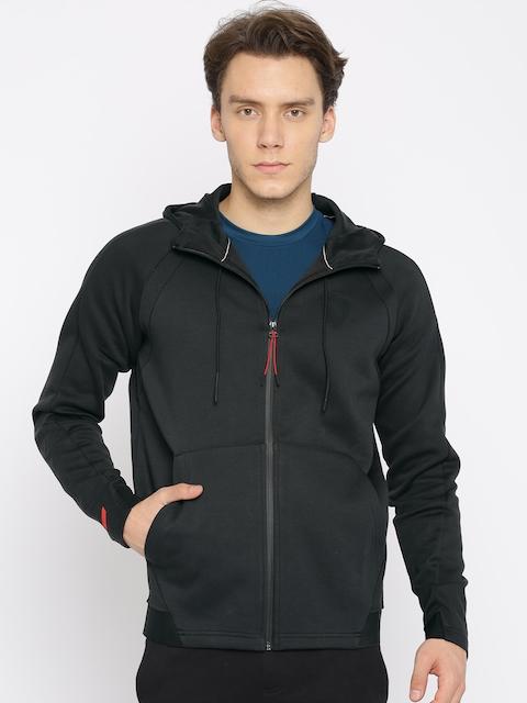 Puma Men Black Solid Hooded Sweatshirt