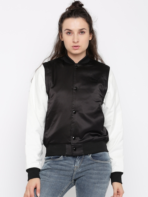Puma Women Black Solid Bomber Jacket